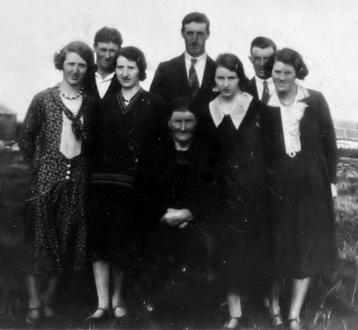 Christina Stout of Lizburn with her seven children