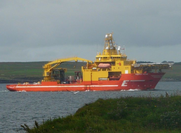 Subsea Viking passing Point of Rerwick
