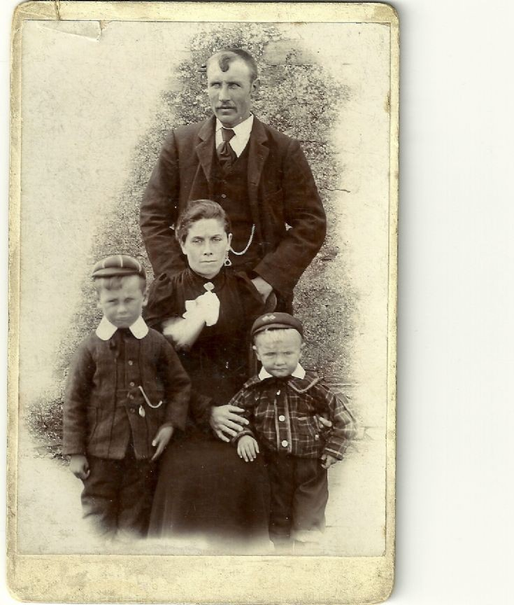 James & Barbara Burghes of Stronsay, with sons