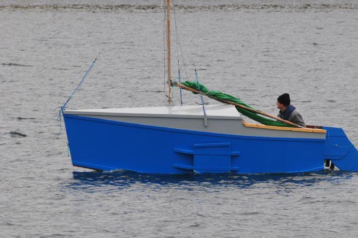 Strange vessel sailing in Scapa Flow