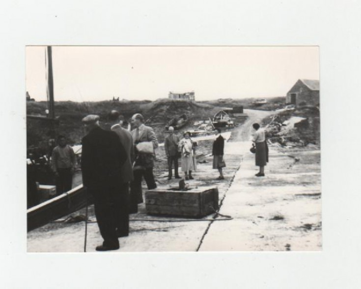 Queen Mother visits Stroma