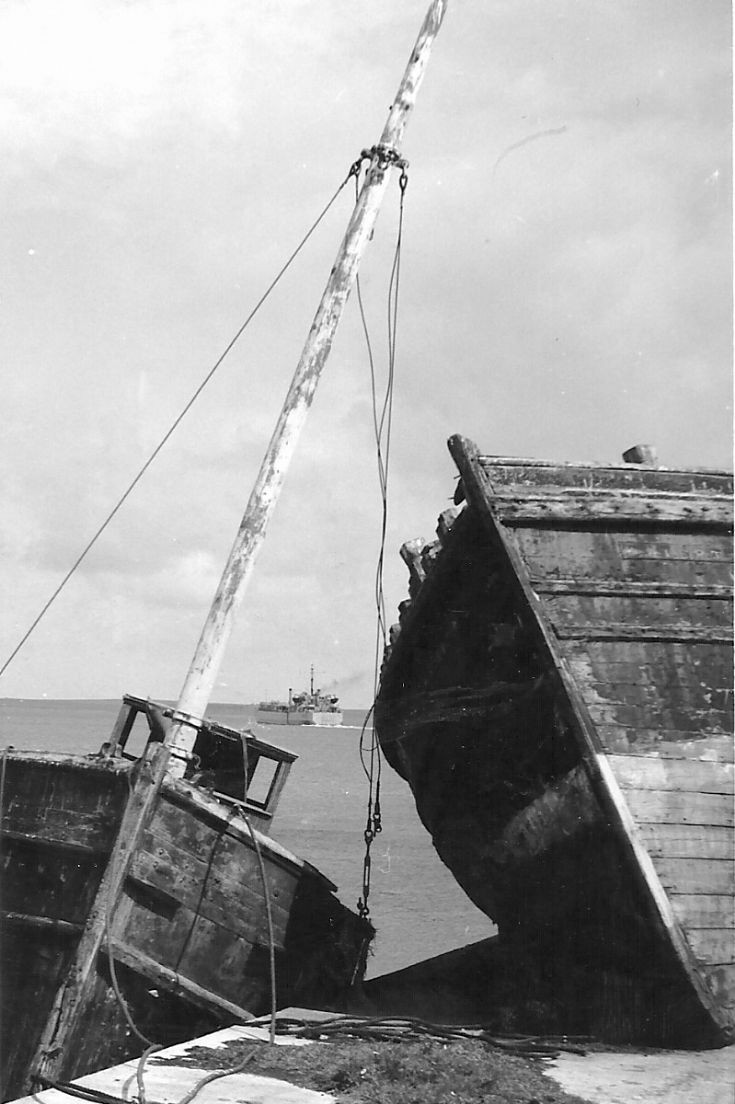 Old boats at Hatston Slip