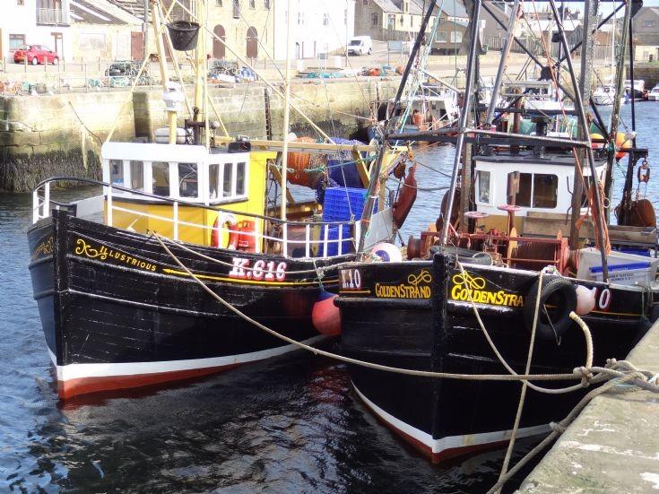 Kirkwall prawn boats at Burghead