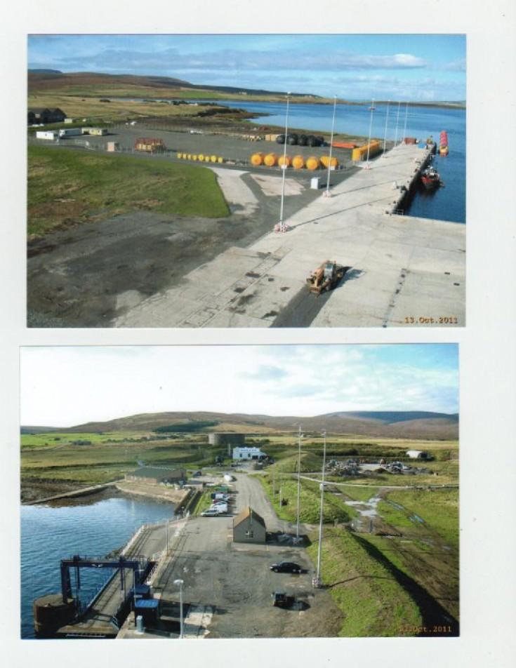 Two views of Lyness pier