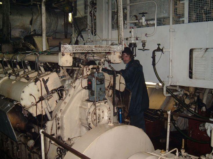 Engine room of Pentland Ferries vessel