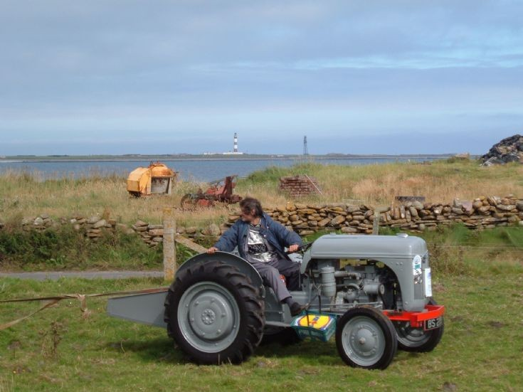 Vintage machinery in North Ronaldsay