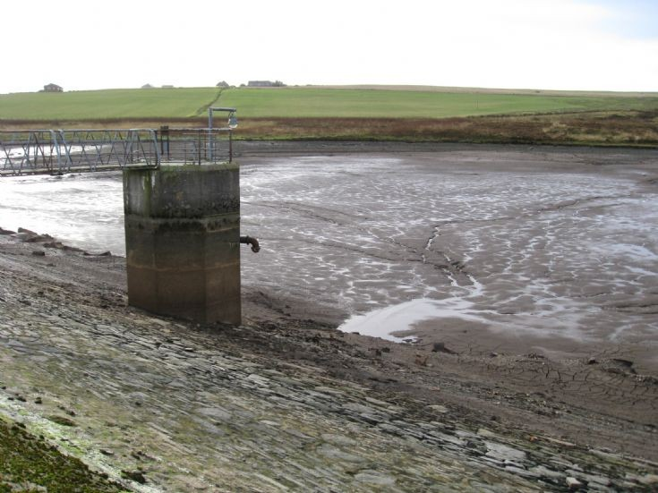 Kirkwall Wideford Reservoir, drained