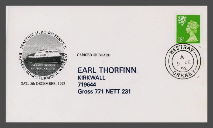 First Day Cover - North Isles Ro-ro