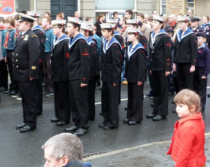 The Sea Cadets on parade
