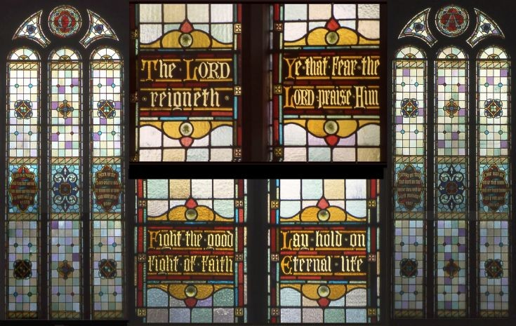 Paterson Kirk's stained-glass windows