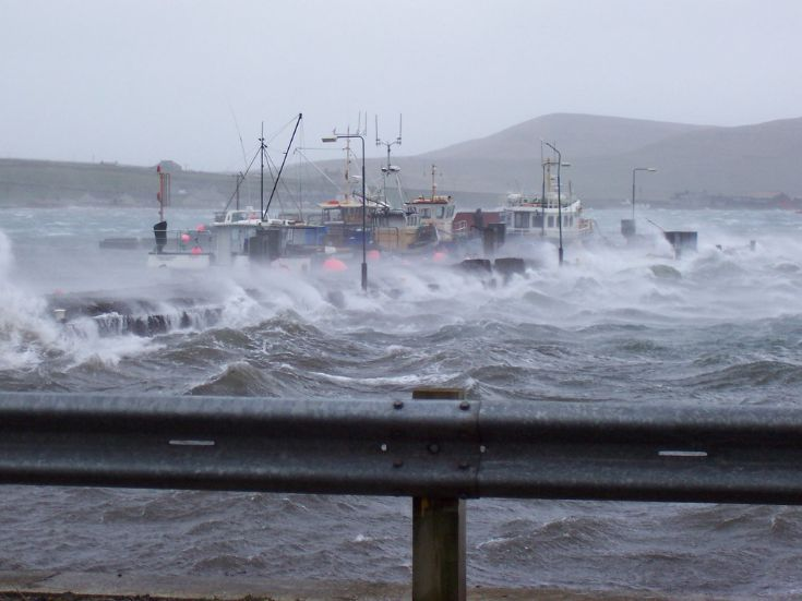 High water at Pierowall Harbour