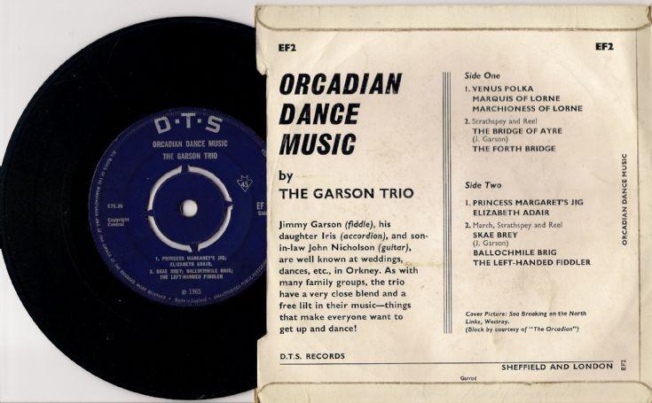 Side 2 of The Garson Trio E.P