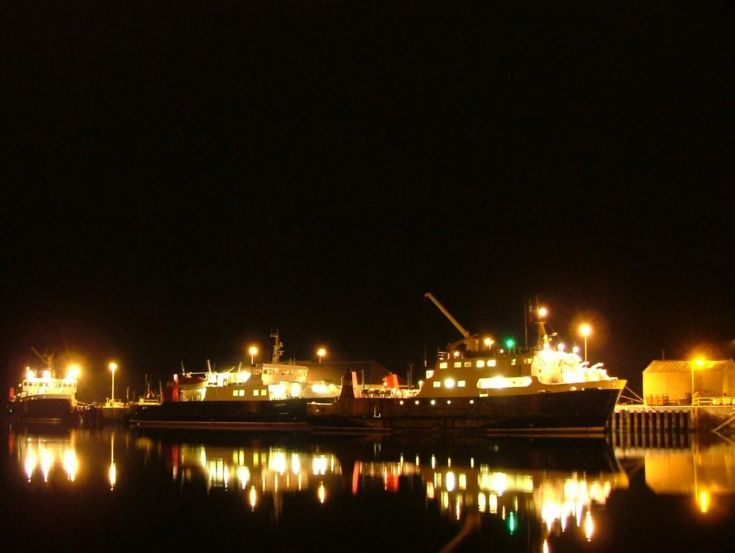 Orkney Ferries at night