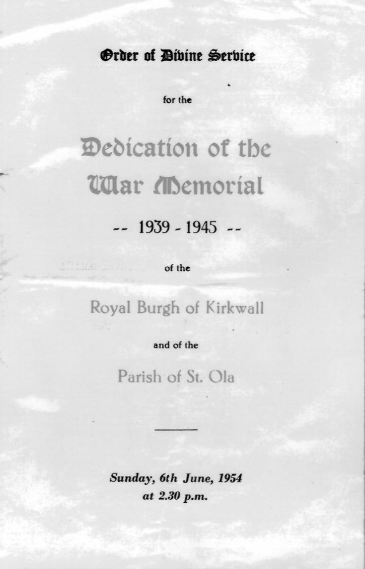 War Memorial Service 1954, 1 of 2
