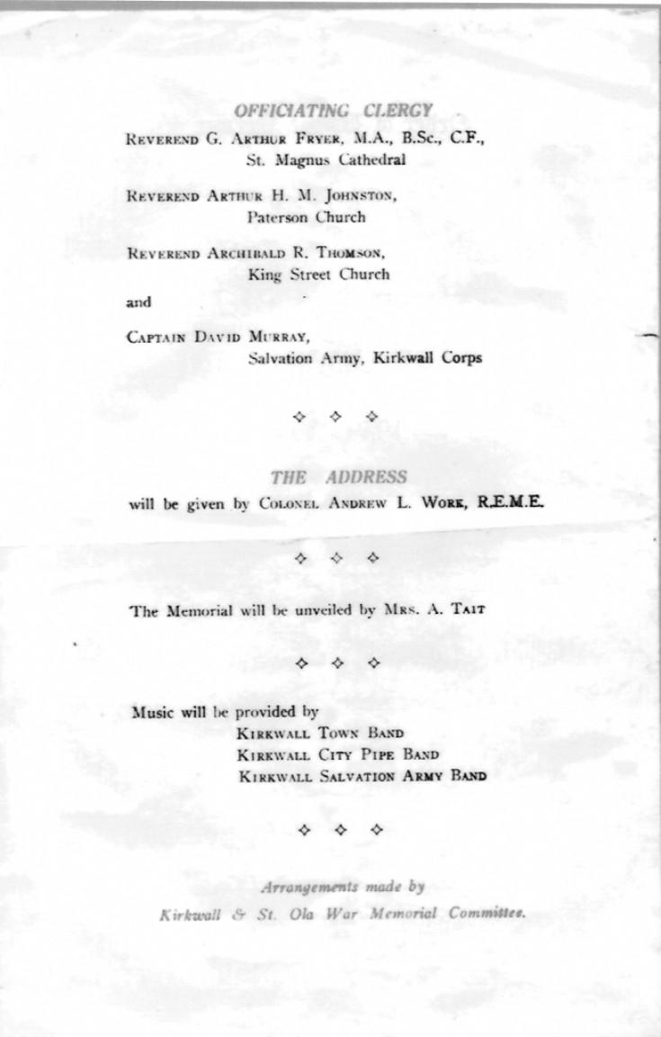 War Memorial Service 1954, 2 of 2