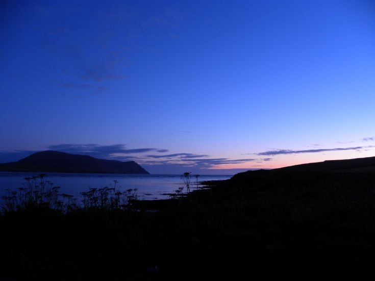 Hoy Sound on a fine calm night