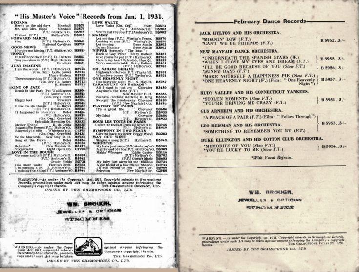 Record catalogues