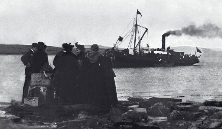 SS Hoy Head visits Cava. restored