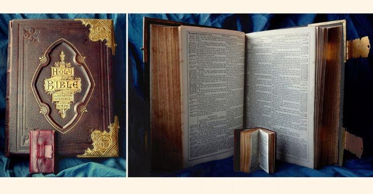 Big bible, tiny Testament