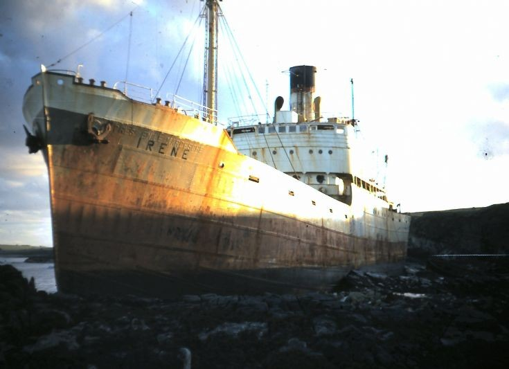 The Irene ashore