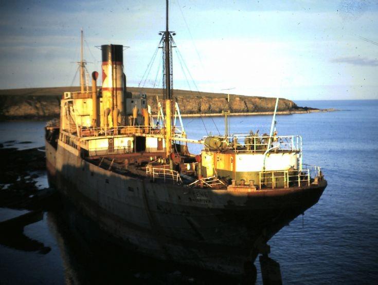 The Irene ashore, 1969
