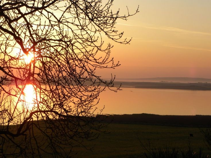 Dawn view from Berstane House