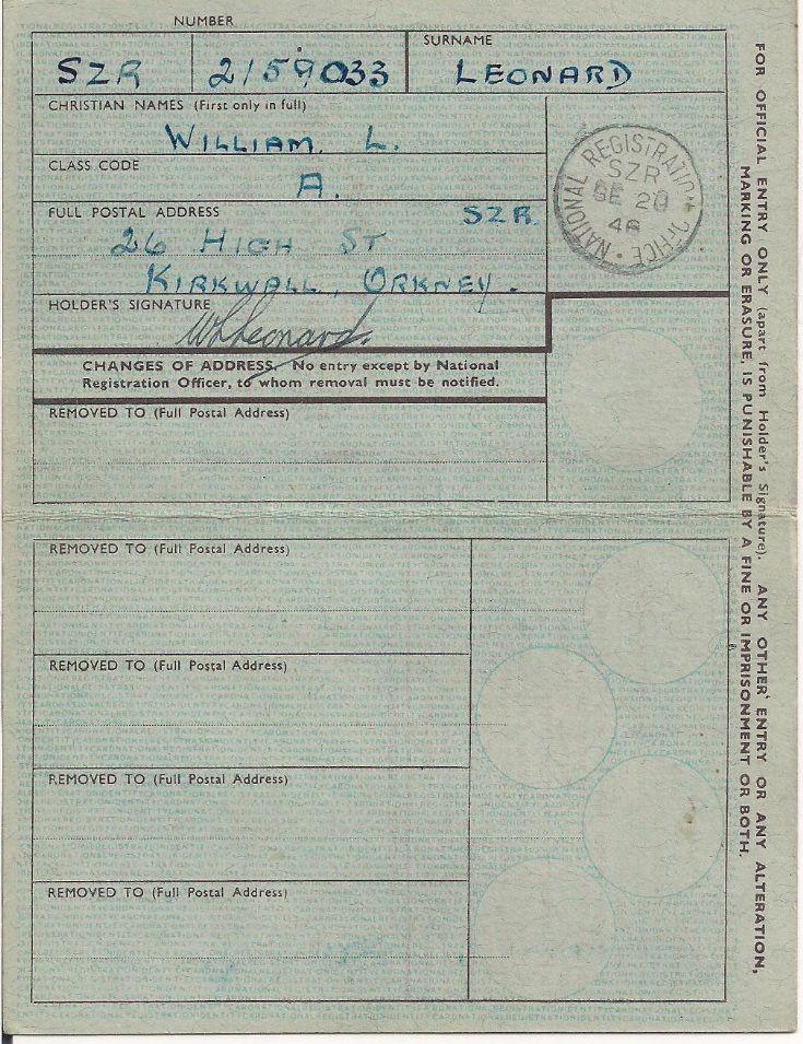 Identity card, 1948