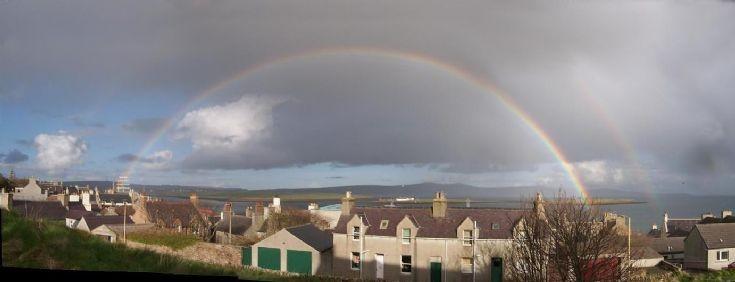 Rainbows panorama