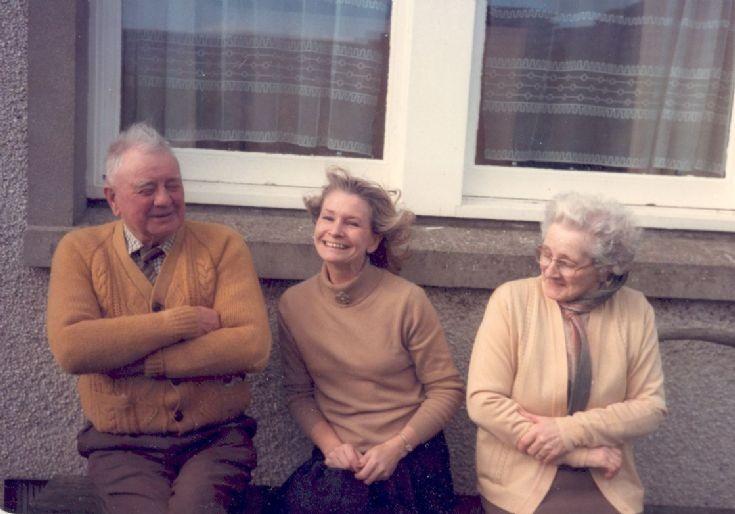 Bill Sinclair, Sheila Braggins and Edith Stuart