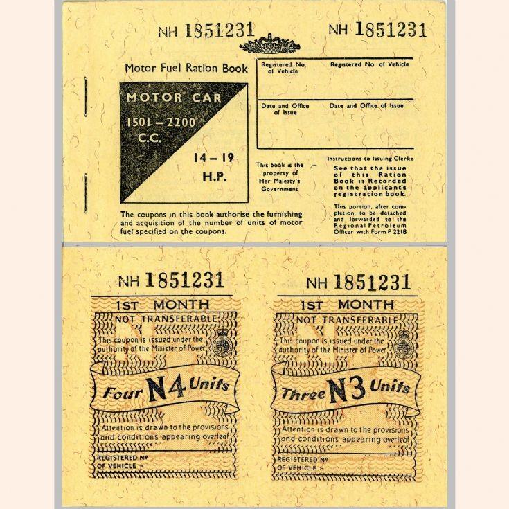 Motor Fuel Ration Book, 1973
