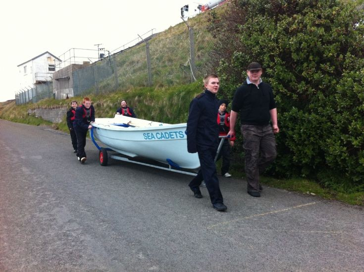 Sea Cadets launch at Scapa slip