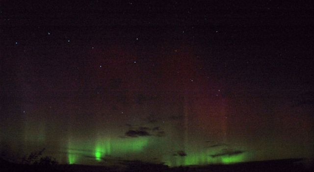 Aurora from Rousay, September 2004
