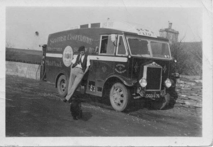 Bill Leslie with Cooperative van