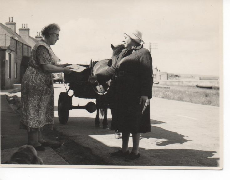 Delivering post in Stronsay in the 1950s