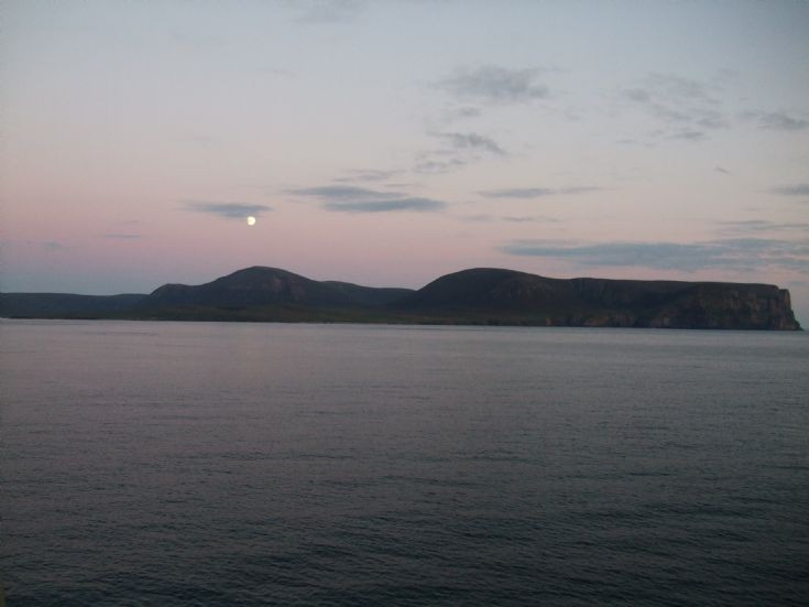 Moonrise over Hoy.