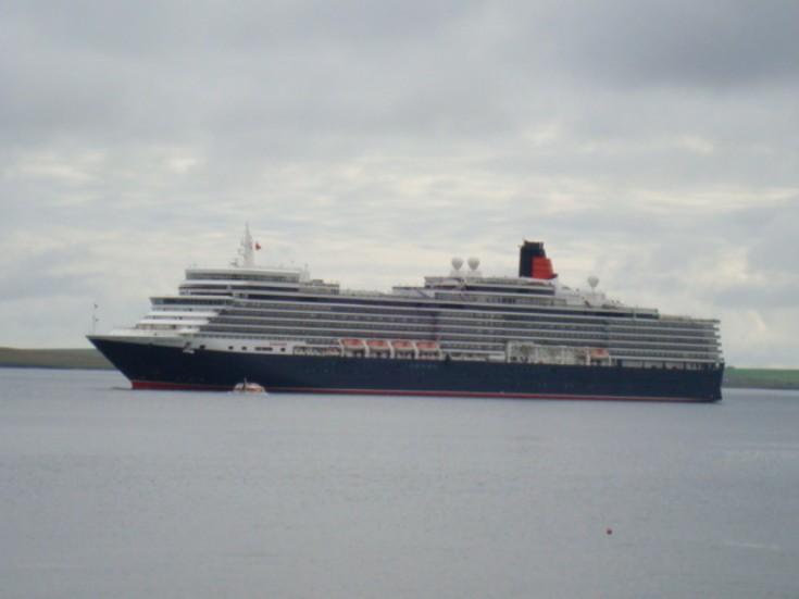 The Queen Elizabeth visiting Orkney