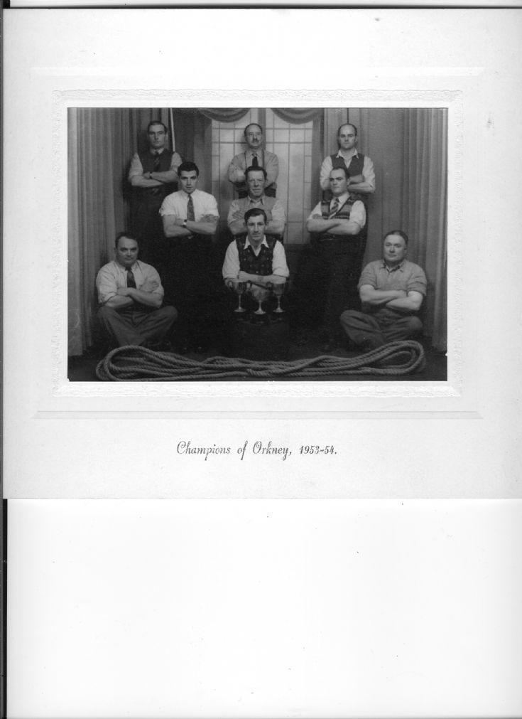 Birsay Tug o War team  1953