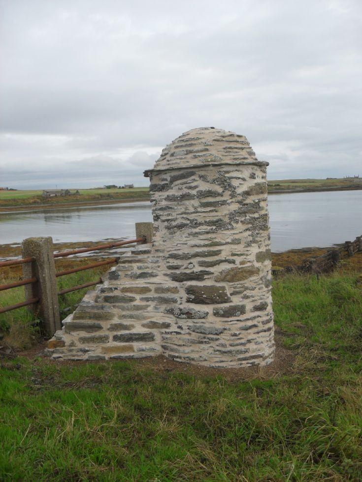 Restored gatepost