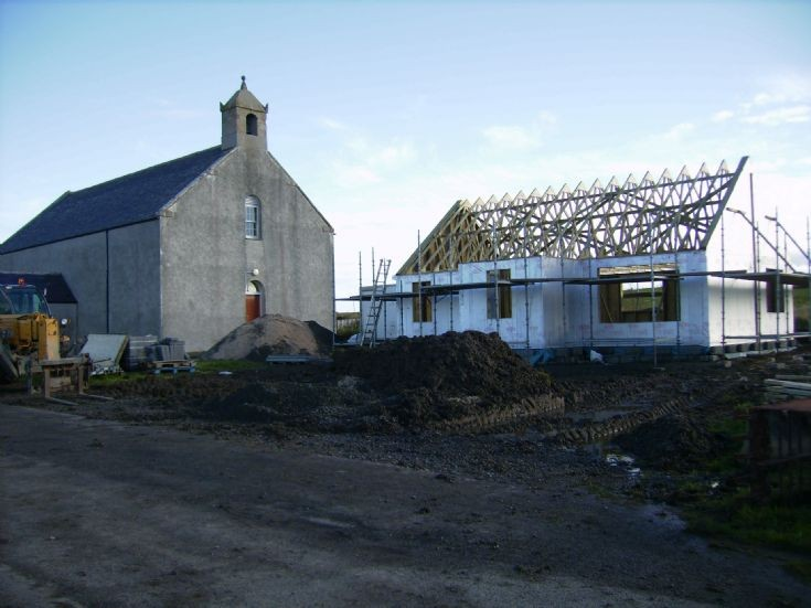 The new manse going up at Longhope