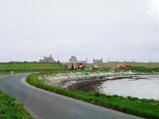 Roadworks in Stronsay