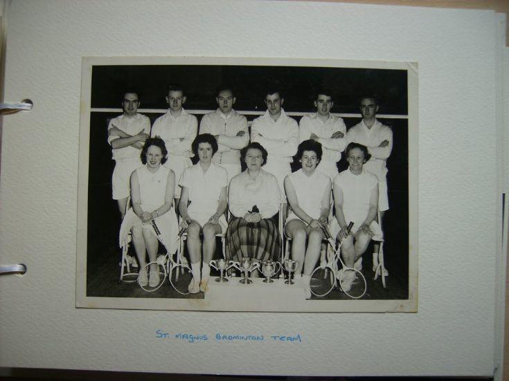 St Magnus Badminton Team season 1959/60
