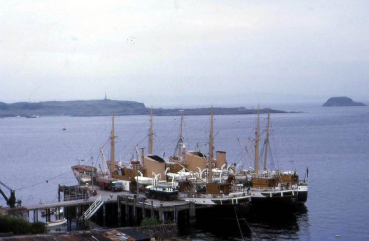 Pole Star, Fingal and Hesperus tied up at Oban