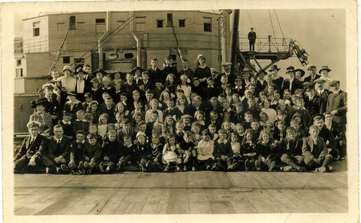 Sunday School outing HMS Victorious Lyness c 1920