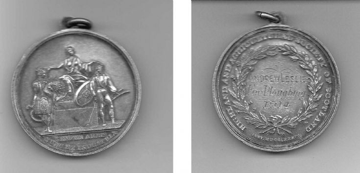 Ploughing medal of Andrew Leslie
