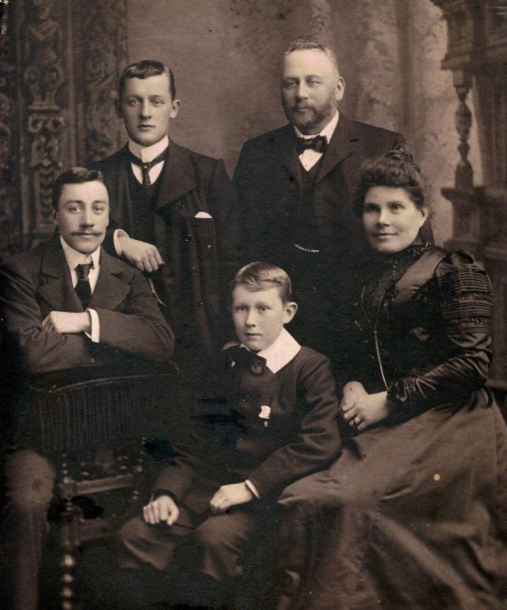 Cooper family, Highbury, Kirkwall circa 1900