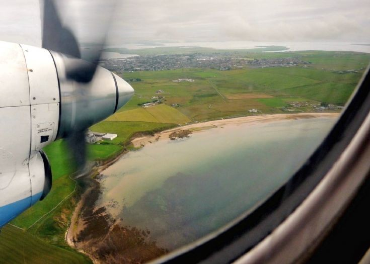 Scapa and Kirkwall from scheduled flight