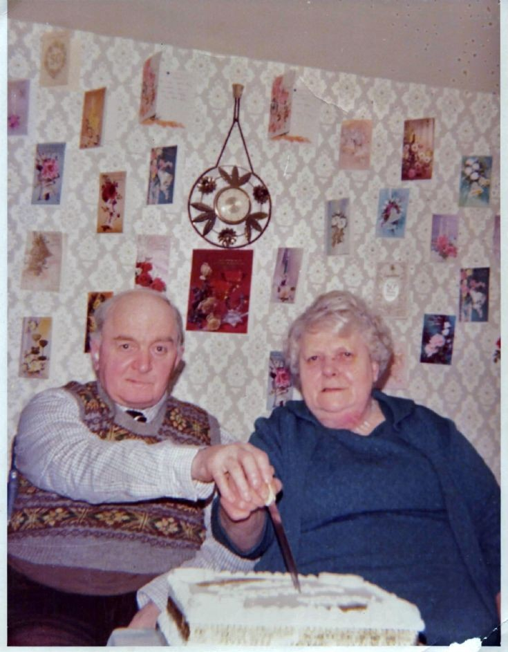 Lawrence and Andrina Flett on their golden wedding