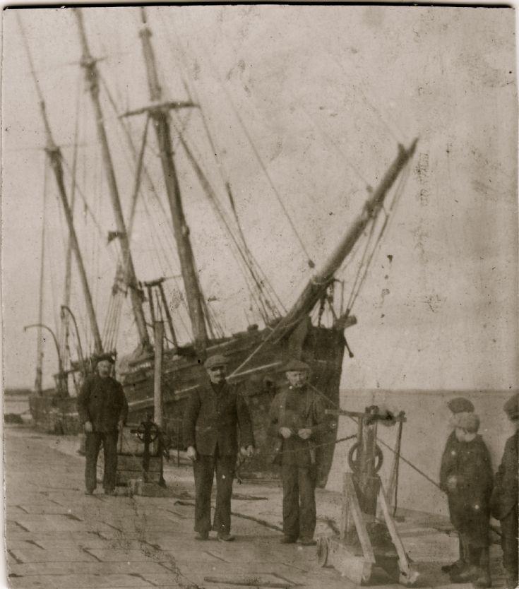 Mystery harbour scene