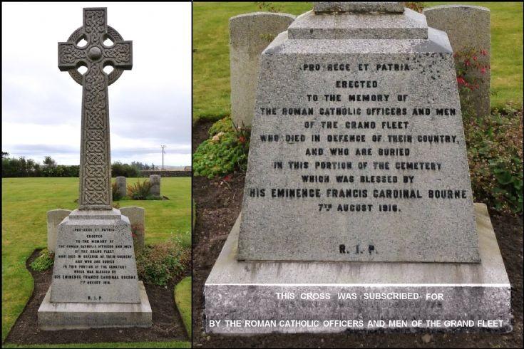 Memorial cross, R N Cemetery Lyness