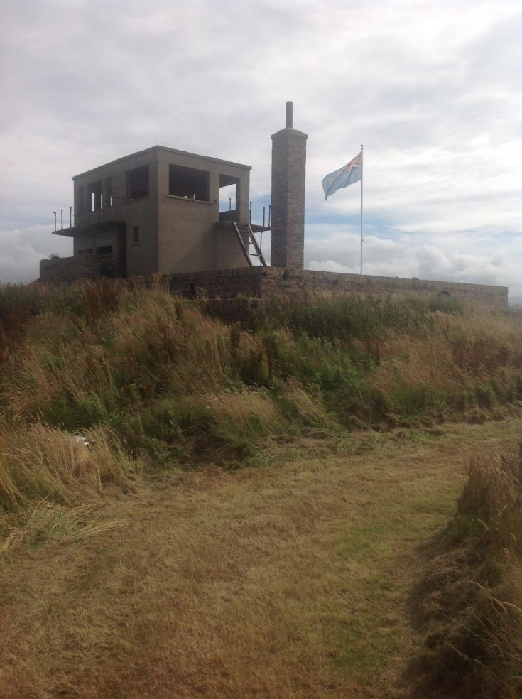 Flag flies at Twatt Control Tower